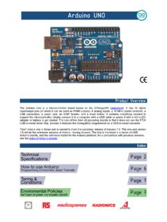 The Arduino Uno is a microcontroller board based on the ...