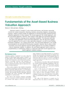 Fundamentals of the Asset-Based Business Valuation Approach