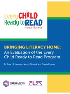 BRINGING LITERACY HOME - Every Child Ready to Read