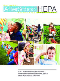 In 2011 the National AfterSchool Association adopted ...
