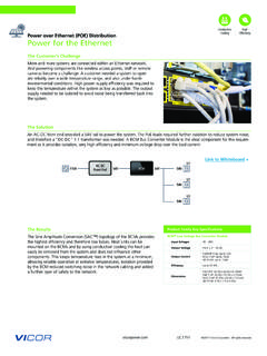 High Power over Ethernet (POE) Distribution Power for the ...