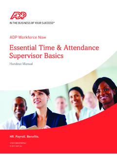 ADP Workforce Now Essential Time & Attendance …