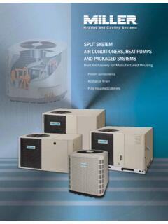 SPLIT SYSTEM AIR CONDITIONERS, HEAT PUMPS …