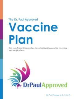 Dr Paul Approved Vaccine Plan