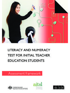 Assessment framework - Literacy and Numeracy Test for ...