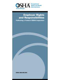 Employer Rights and Responsibilities - osha.gov