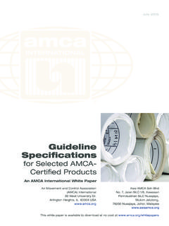 Guideline Specifications - AMCA