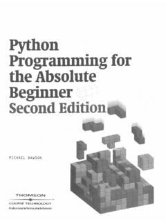 Python Programming for the Absolute Beginner Second …