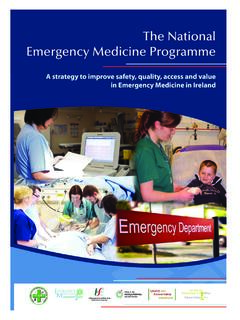 The National Emergency Medicine Programme