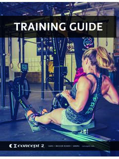 TRAINING GUIDE - Concept2