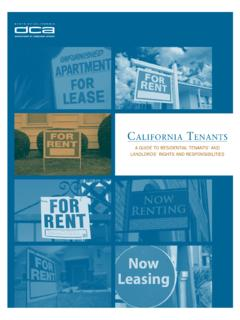 California Tenants A guide to Residential Tenants' …