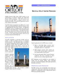 Recycle Split Vapor Process - Ortloff Engineers, Ltd.
