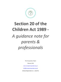 Section 20 of the Children Act 1989 - 08 A guidance note ...