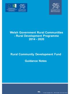 Welsh Government Rural Communities - Rural Development ...