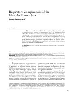 Respiratory Complications of the Muscular Dystrophies