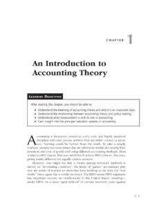 An Introduction to Accounting Theory