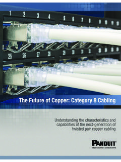 The Future of Copper: Category 8 Cabling - Panduit