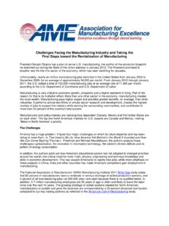Challenges Facing the Manufacturing Industry and …