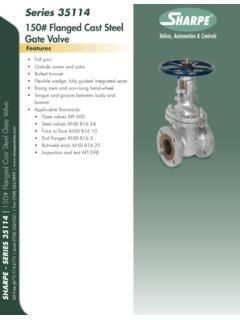 150# Flanged Cast Steel Gate Valve - Sharpe® Valves