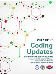 2017 CPT Coding Updates - American College of …