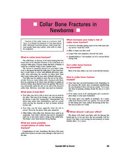 Collar Bone Fractures in Newborns