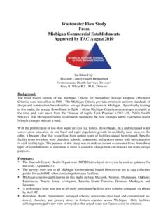 Wastewater Flow Study From Michigan Commercial ...
