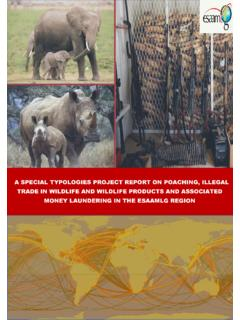 A SPECIAL TYPOLOGIES PROJECT REPORT ON POACHING, …