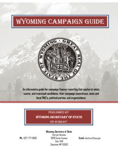 Wyoming Campaign guide - Wyoming Secretary of …
