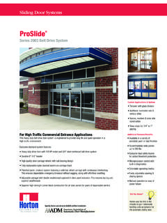 ProSlide - Horton Automatics Welcomes You