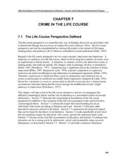 CHAPTER 7 CRIME IN THE LIFE COURSE
