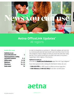 Aetna OfficeLink Updates - All regions September …