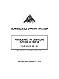 INLAND REVENUE BOARD OF MALAYSIA WITHHOLDING …