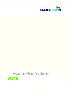 Associate Benefits Guide 2019 - adventisthealth.org
