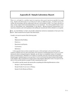 Appendix E: Sample Laboratory Report - Physics at …