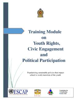 Training Module on Youth Rights, Civic Engagement and ...