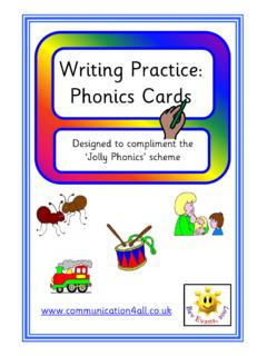 Writing Practice: Phonics Cards - Communication4All