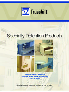 Specialty Detention Products - Trussbilt