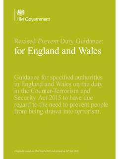 Revised Prevent Duty Guidance: for England and Wales