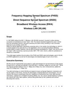 Frequency Hopping Spread Spectrum (FHSS) - …