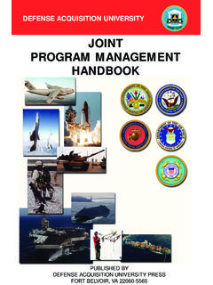 JOINT PROGRAM MANAGEMENT HANDBOOK - AcqNotes