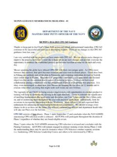 DEPARTMENT OF THE NAVY MASTER CHIEF …