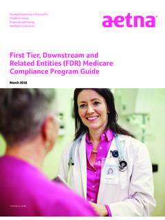 First Tier, Downstream and Related Entities (FDR) Medicare ...