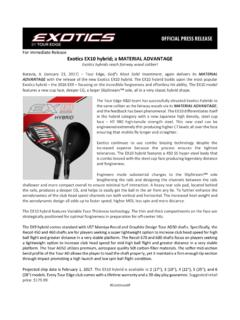 For Immediate Release Exotics EX10 hybrid; a …