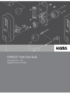 SIMPLEX Parts Price Book - Mayflower Sales