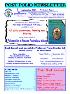 September 2013 VOL 24 No 3 poliowa POST POLIO …