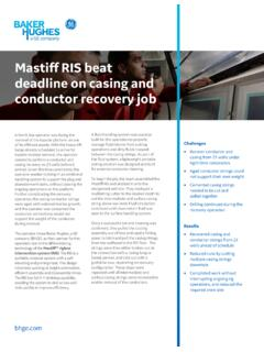 Mastiff RIS beat deadline on casing and conductor recovery …