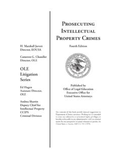 Prosecuting Intellectual Property Crimes - U.S. …