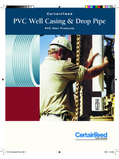 CertainTeed PVC Well Casing & Drop Pipe