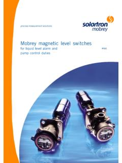 Mobrey magnetic level switches - Stránka P MIP