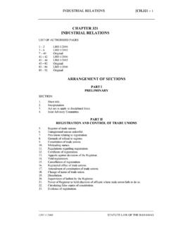 Industrial Relations Act - Bahamas Legislation - Home